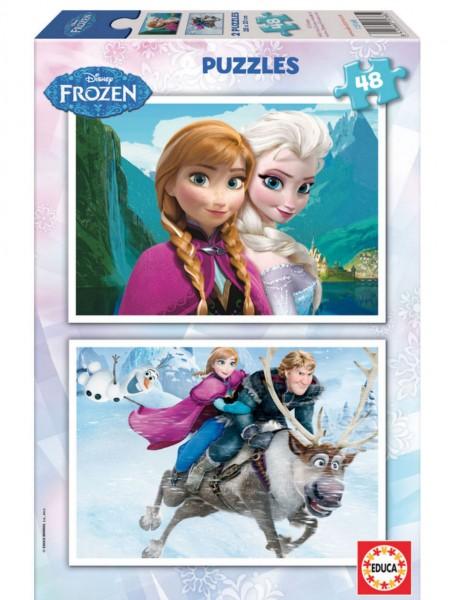 2 frozen puzzels 48 delig per puzzel