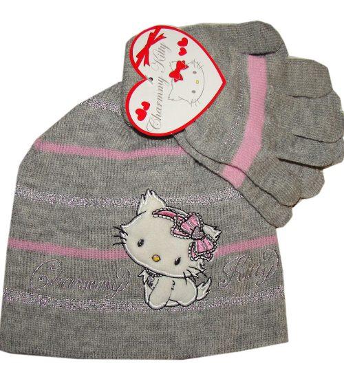 charmmy Kitty muts met handschoenen