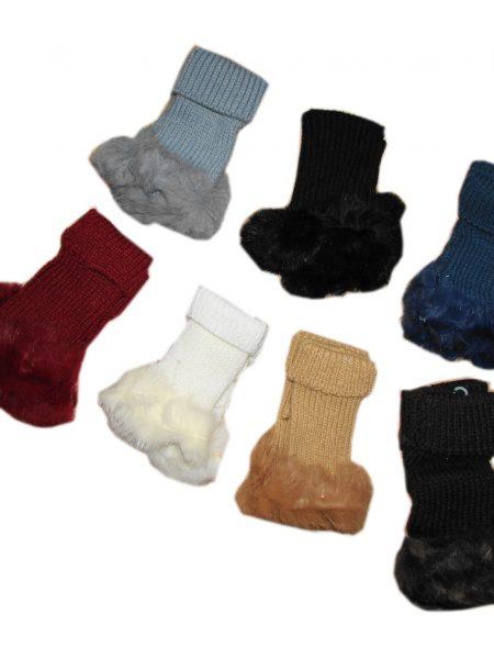 handschoenen met bontrand