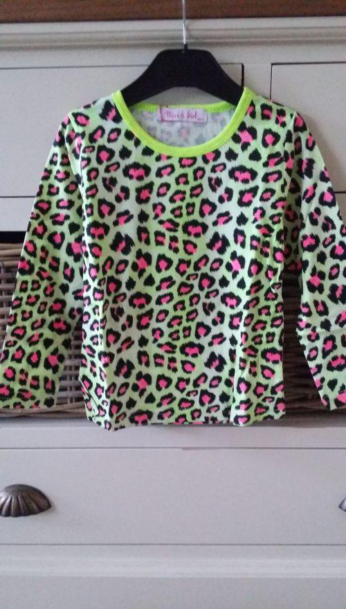 panter shirt geel/roze
