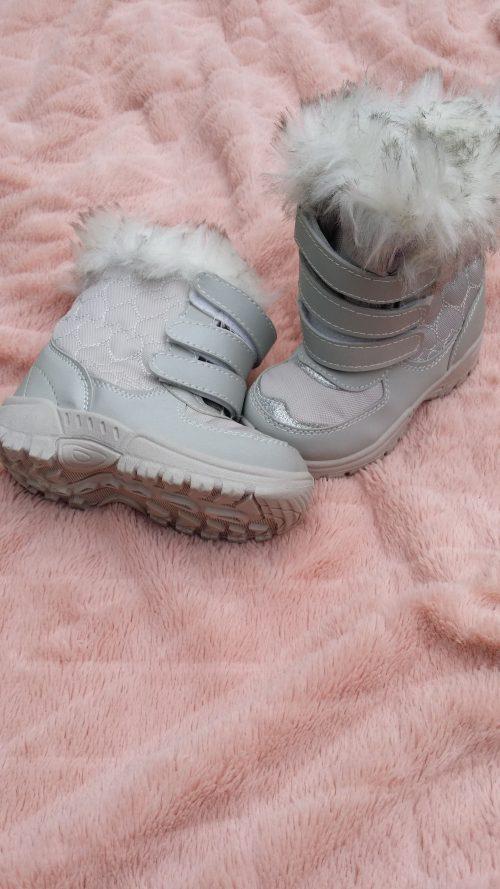 snowboots grijs met bont