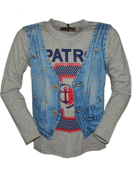 shirt patrol grijs