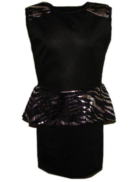 jurk zwart/zilver