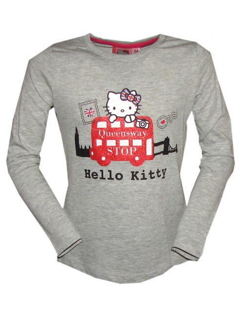hello Kitty shirt grijs