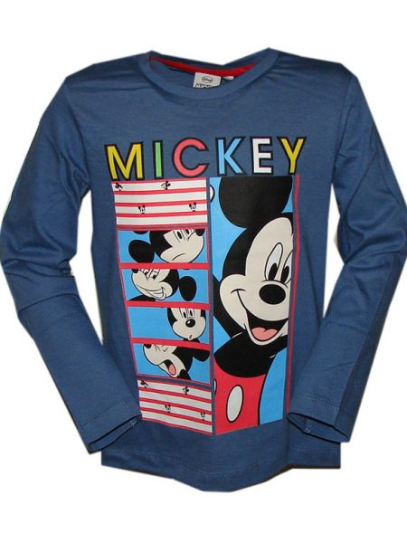 Mickey mouse shirt blauw