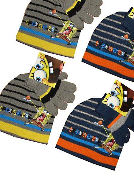 spongebob muts met handschoenen