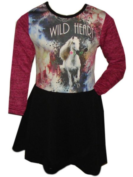 jurk paard wild heart pink