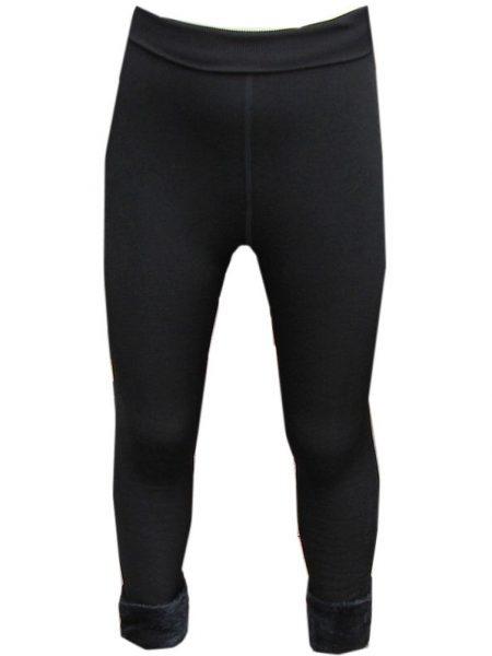 zwarte gevoerde legging met bontrand