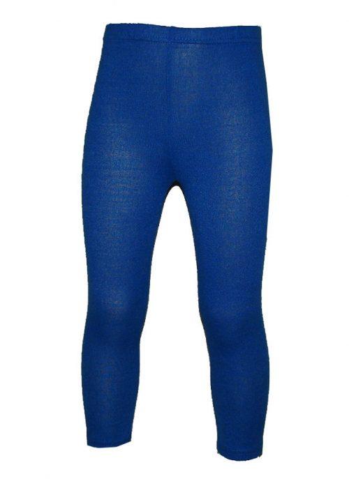 wollige legging blauw