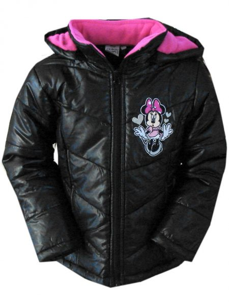 minnie mouse winterjas zwart/roze