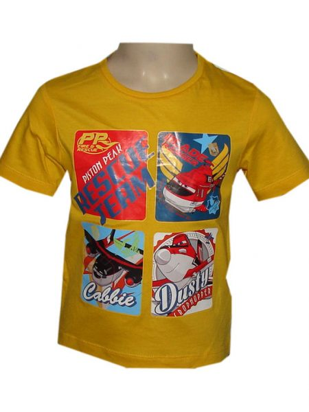 planes t-shirt rescue team geel