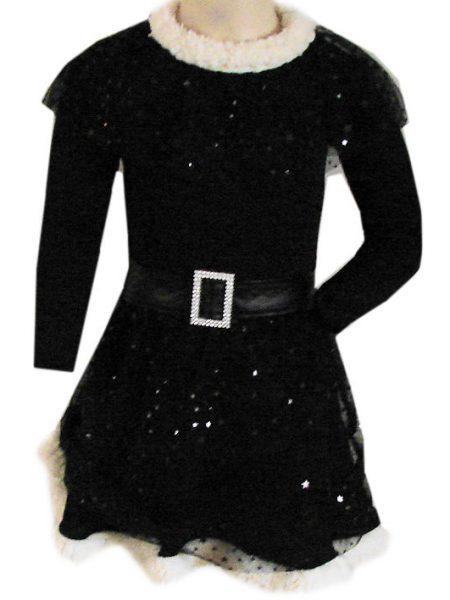 glitter jurk zwart ster
