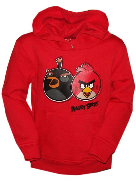 angry birds sweater met capuchon rood