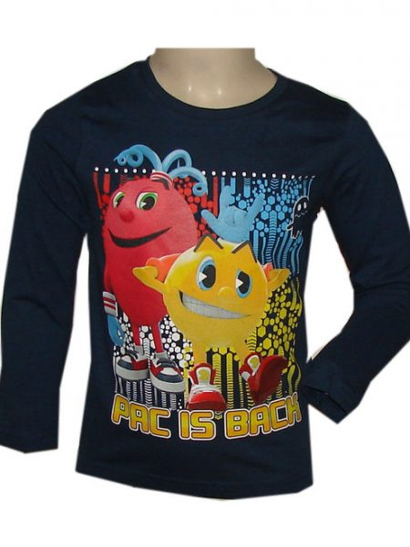 pac man shirt pac is back donkerblauw
