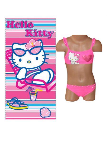 hello Kitty bikini roze met handdoek