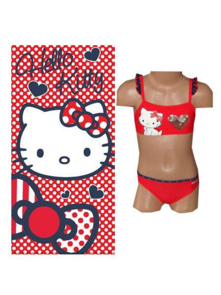 hello Kitty bikini met handdoek