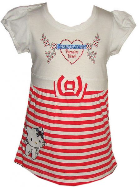 hello Kitty tuniek Paradise beach rood