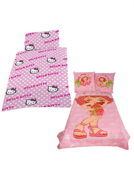 hello Kitty en strawberry shortcake overtrek 2 VOOR 25,00