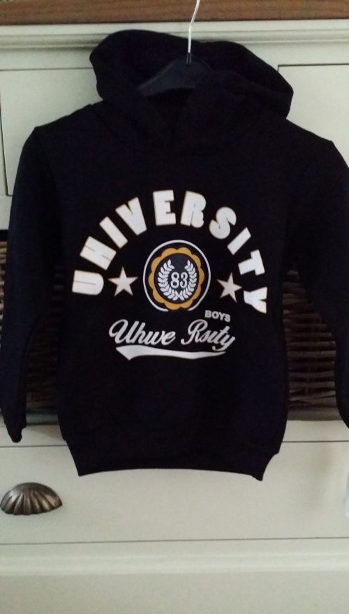 sweater university zwart