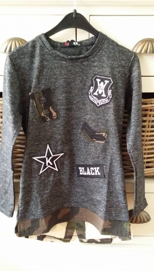longshirt patches dark grey