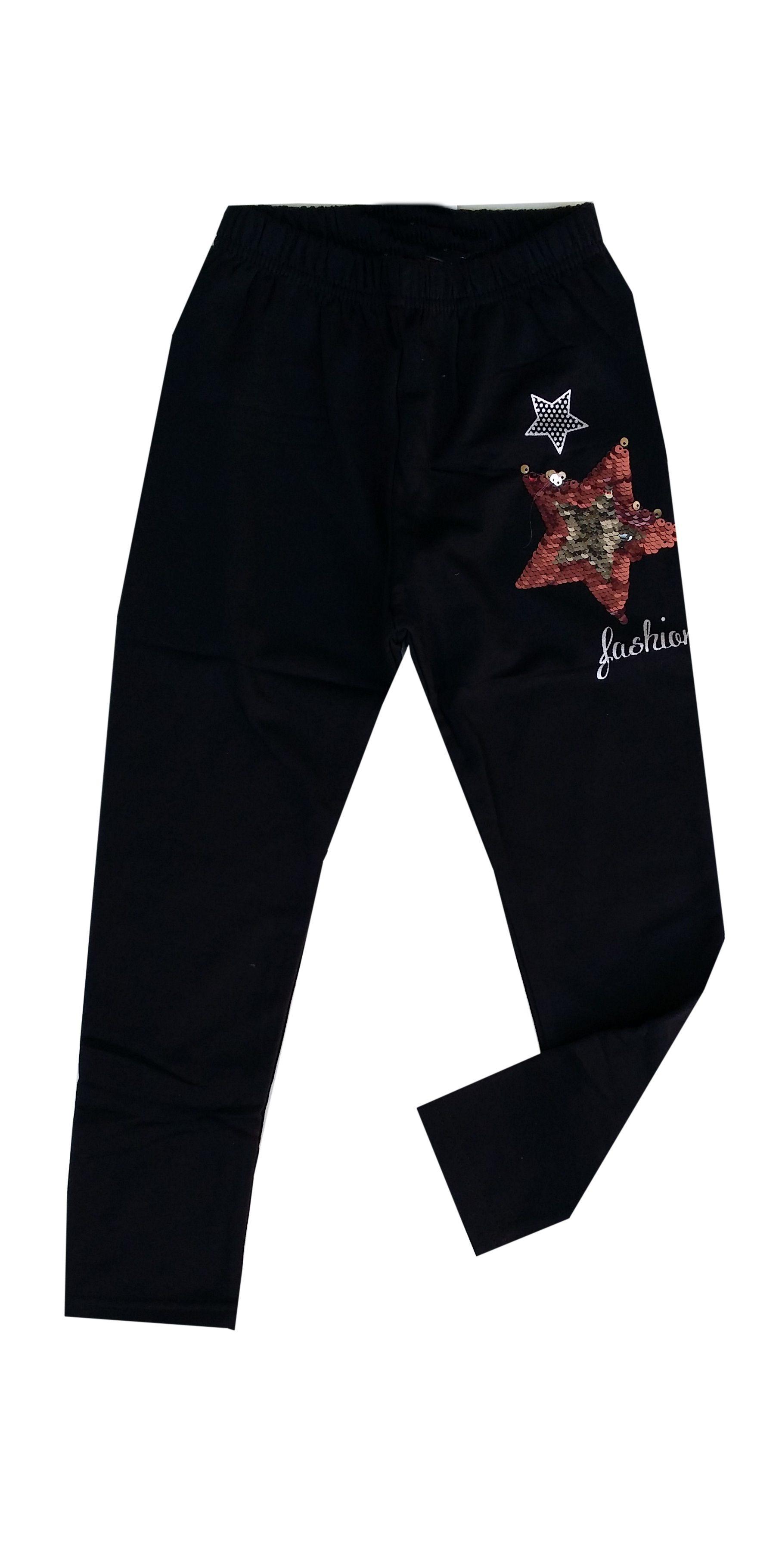 legging zwart ster met omkeerbare pailletten