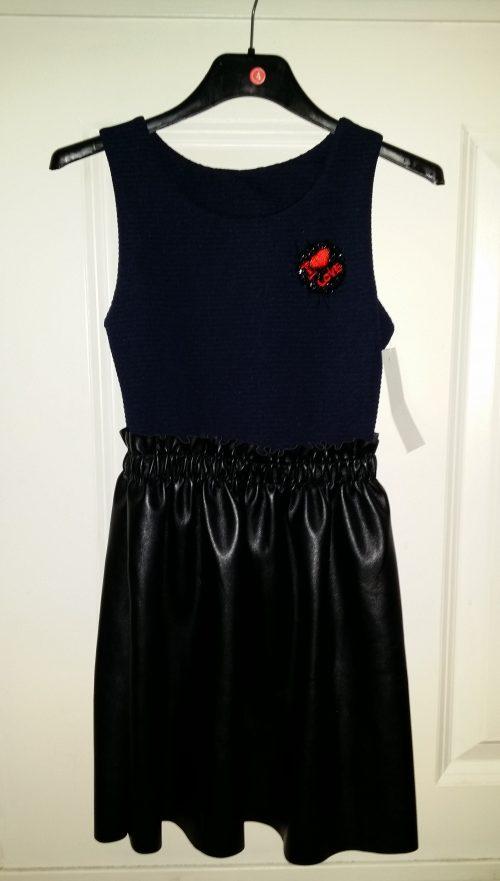 jurk chic blauw/zwart