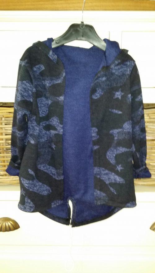 camouflage vest donkerblauw unisex