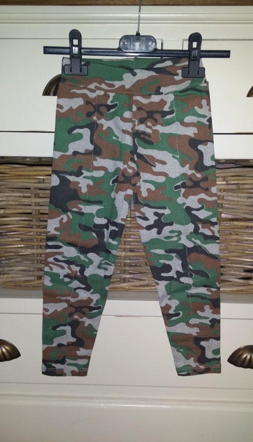 camouflage broek groen unisex