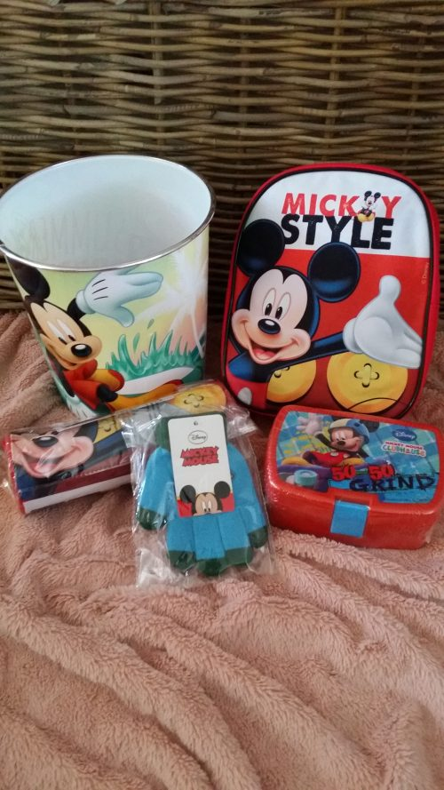 mickey mouse 5 delige set