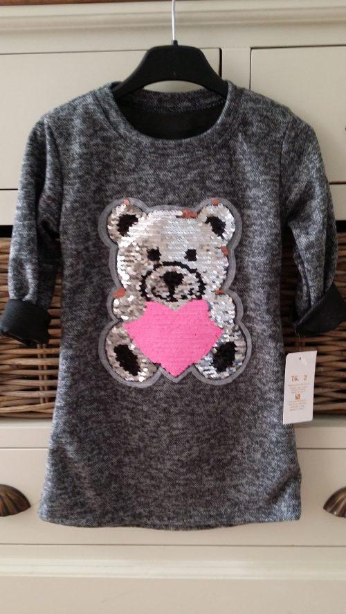 jurk beer met omkeerbare pailletten