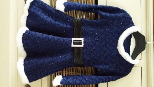 glitterjurk donkerblauw