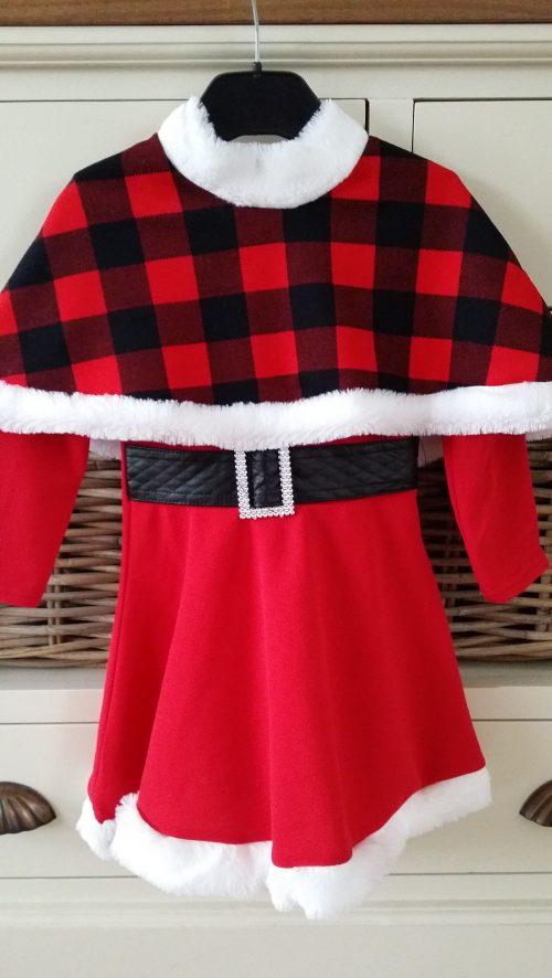kerst jurk met poncho
