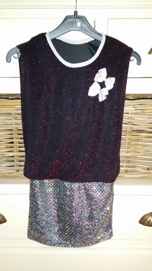 glitter jurk met strikjes