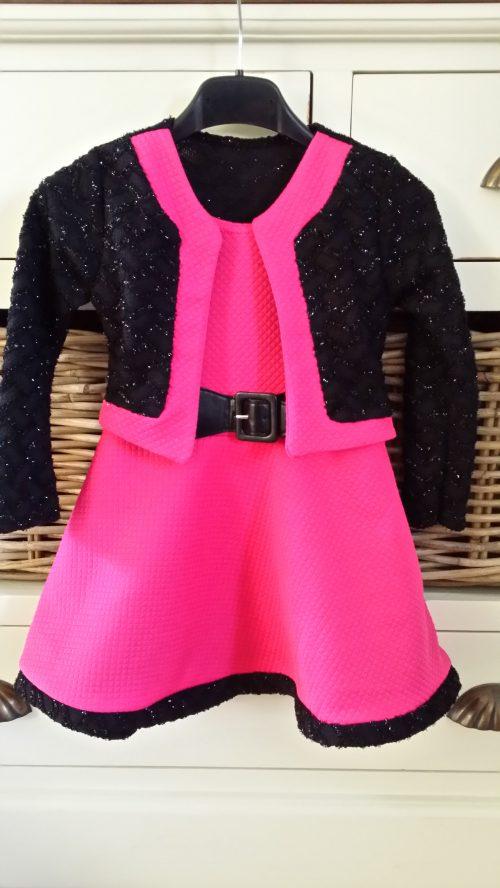 jurk roze dubbellook