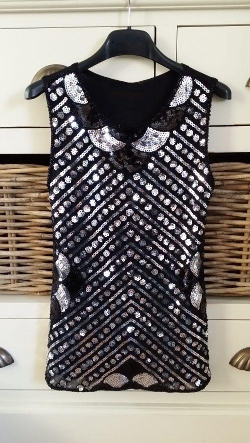 jurk pailletten zwart