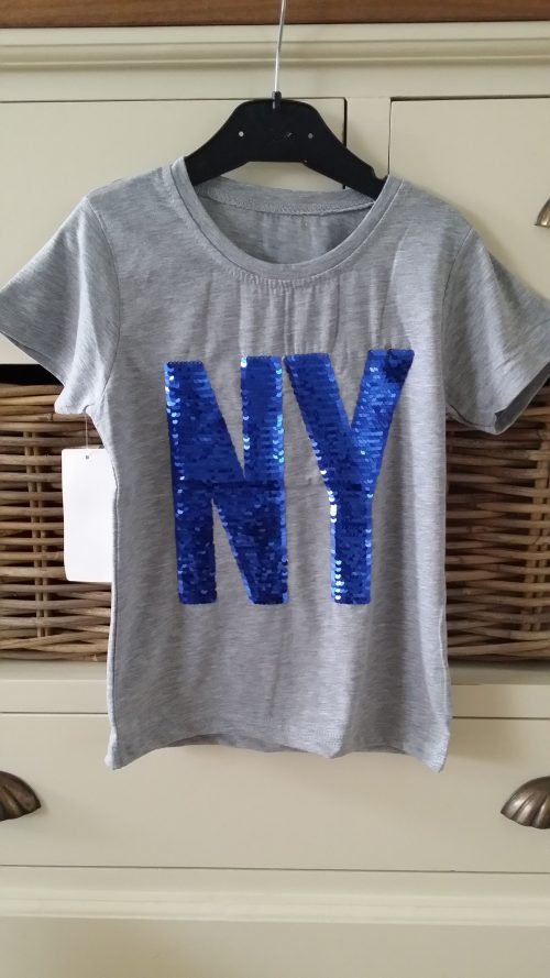 shirt grijs NY omkeerbare pailletten
