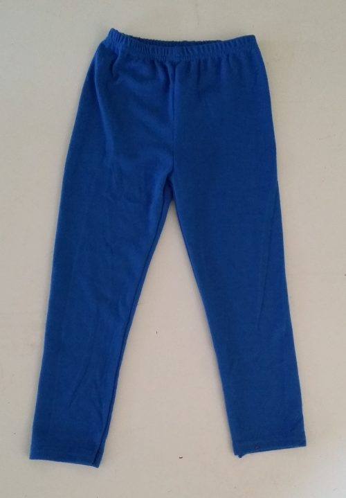 wollige legging blauw Mooie legging in blauw artikel 1018ml