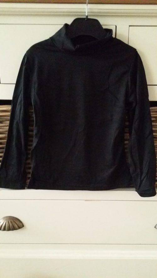 uni shirt zwart