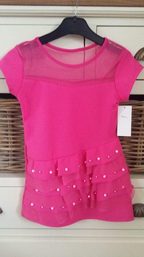 jurk roze met parels