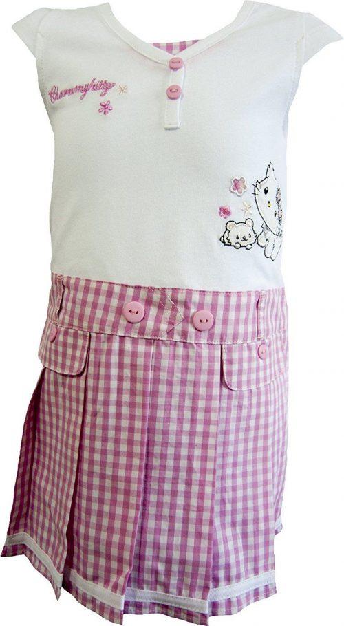 charmmy Kitty jurk wit/roze