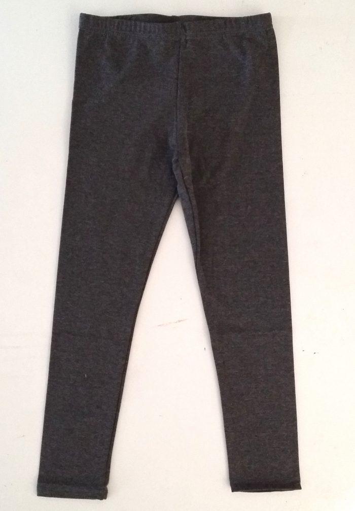 legging grijs Grijzelegging, ideaal om te combineren met de jurkjes 75% katoen 20% polyester 5% elasthan artikelnummer m1140