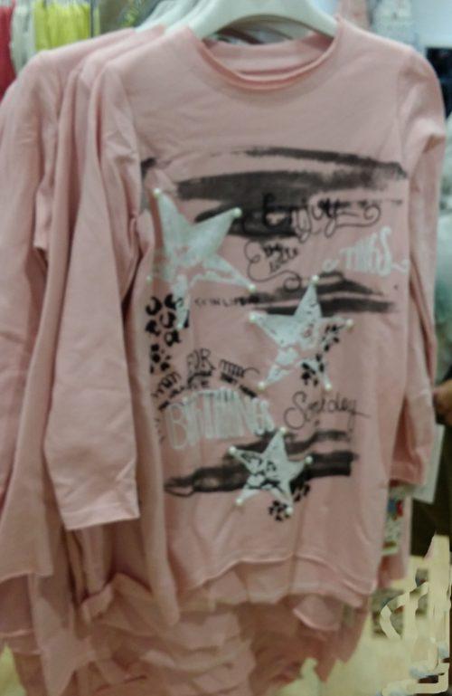 jurkje roze met bedrukkingen
