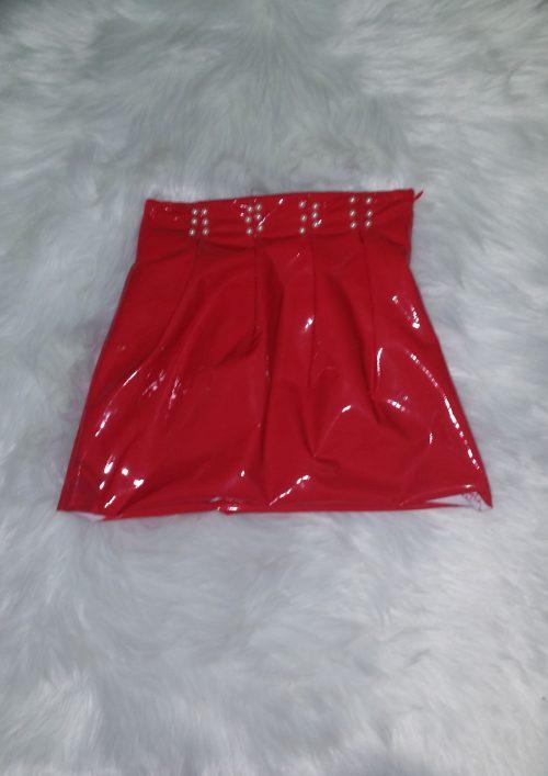 lak rok rood met parels