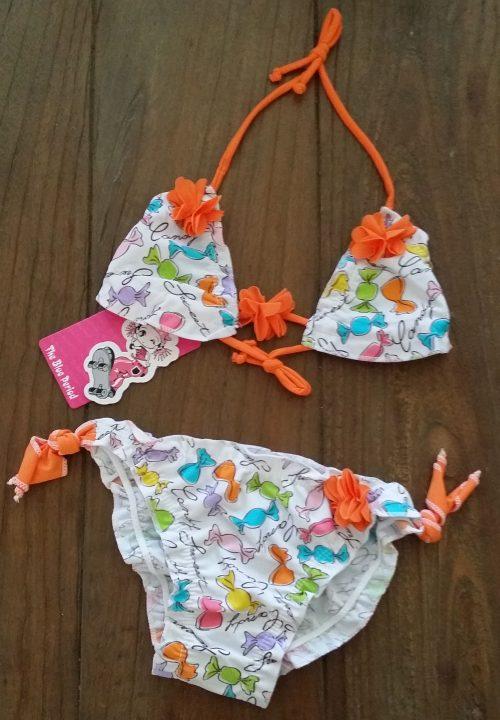 bikini wit oranje candy