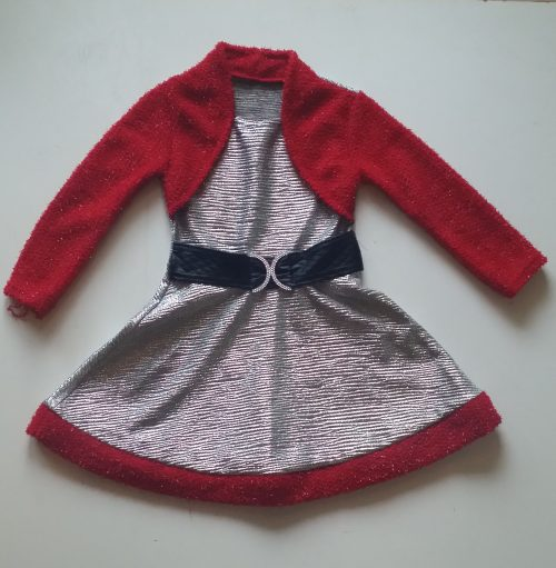jurkparelmoer met rood dubbellook