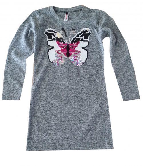 jurk vlinder met omkeerbare pailletten