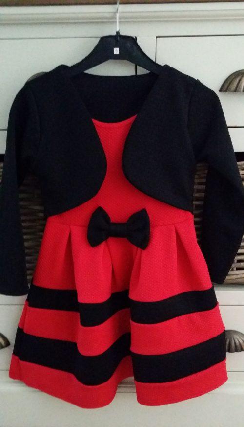 dubbellook jurk rood