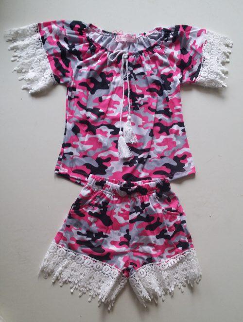 camouflage set roze