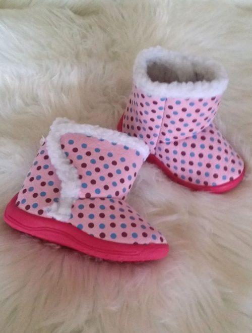 pantoffel boots met dots