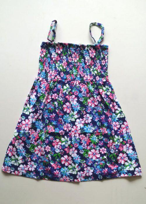 jurk flower blauw